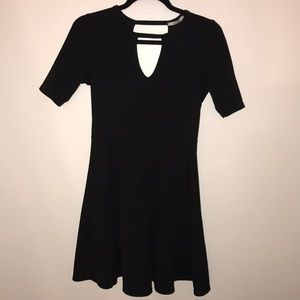 Acemi black keyhole fit and flare dress